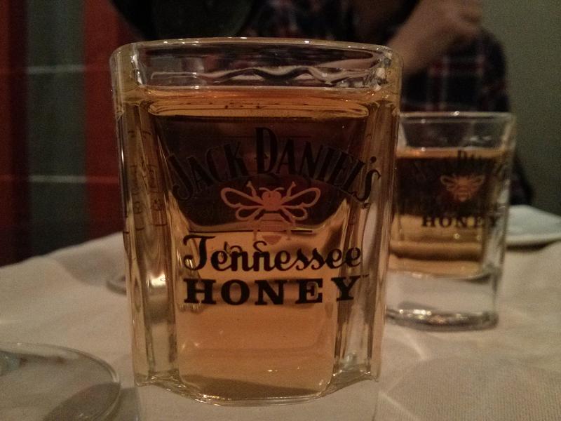 Chupito de Jack Daniel's Honey.